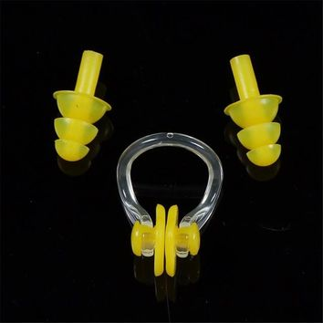 Swimming Pool beach Soft Silicone Swimming Nose Clips + Ear Plugs Earplugs Gear with a case box Set Pool Accessories Water SportsSwimming Pool beach KO_14_1