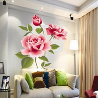 Rose Flower Wall Stickers Removable Decal