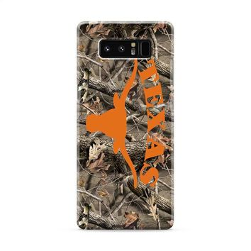 Texas Longhorns (camo branches) Samsung Galaxy Note 8 Case