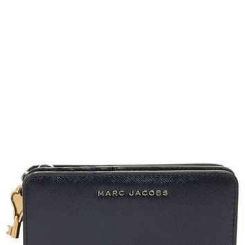 MARC JACOBS Saffiano Leather Compact Wallet | Nordstrom
