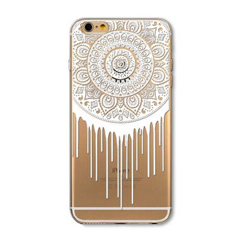 The unique datura flower pattern phone case for iphone 5 5s SE 6 6s 6 plus 6s plus + Nice gift box 072701