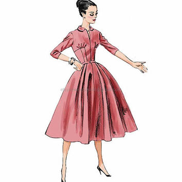 50s Retro Dresses, Butterick 5813 Pattern, sizes 6 to 14, Rockabilly Dress, Vintage Dress Pattern, Pin Up Dress