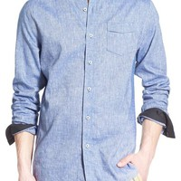 Descendant of Thieves Trim Fit Slub Chambray Woven Shirt | Nordstrom
