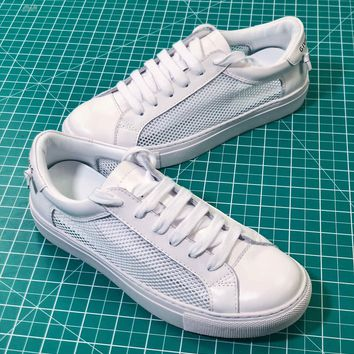Givenchy Low Top Lace Up Triple White Sneakers - Best Online Sale
