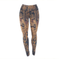 "Susan Sanders ""Barn Floor"" Rustic Yoga Leggings"