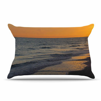 "Philip Brown ""Sunset Beach"" Coral Gold Pillow Sham"