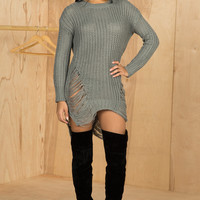 Barely There Sweater Dress (Dark Grey)