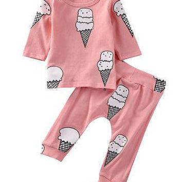 Newborn Infant Baby Girls Clothes T-shirt and Pants Kid girl baby clothing set little girl clothing Set