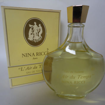 Vintage Nina Ricci Paris L'Air du Temps Eau de Toilette 200 ml 6.76 fl. oz.
