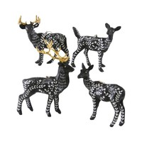 Moonlit Black Fauna Deer Ornament