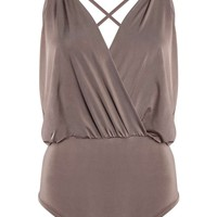 Darcy Wrap Over Cross Back Slinky Body