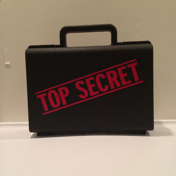 Top Secret Case, Secret Agent, Ring Bearer Gift, Ringbearer gift, Ring Agent, Ring Security, Dress up