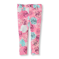 Floral Print Knit Jeggings | US Store