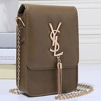 Perfect YSL Yves Saint Laurent Women Shopping Leather Metal Chain Crossbody Shoulder Bag Satchel