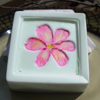 Painted Lilly, Avocado Cucumber Soap, Hand painted