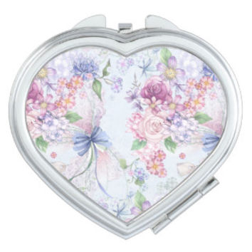 Shabby Chic & Floral Compact Mirrors