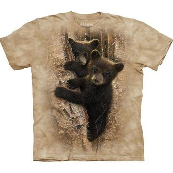 CREYCY8 Bear Cubs Curious in a Tree T-Shirt