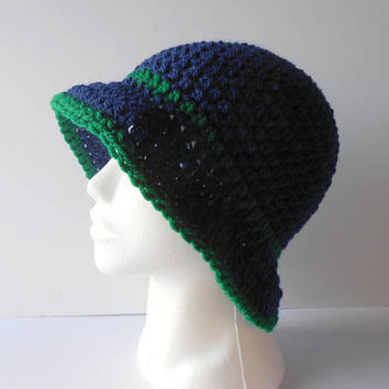 Clothing Gift for Her. Cloche Hat. Women's crochet Hat. Wool Blend Hat. Winter Hats. Outdoor Gift. Navy Crochet Hat.  Fashion Gift for her