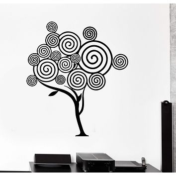 Vinyl Wall Decal Abstract Tree Room Decor Home Art Mural Stickers Unique Gift (ig2796)