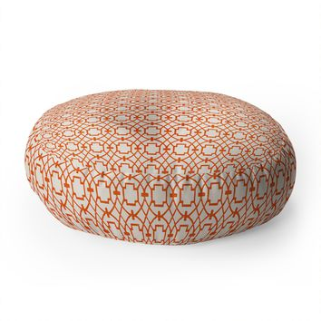 Caroline Okun Burnt Orange Umbria Floor Pillow Round