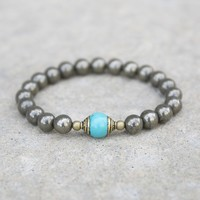 'Confidence and Persistence' Pyrite Gemstone Bracelet