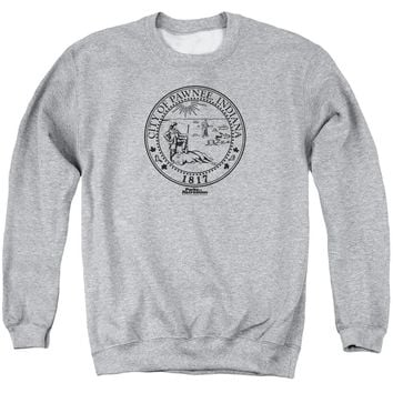 Parks And Rec - Pawnee Seal Adult Crewneck Sweatshirt Officially Licensed Apparel
