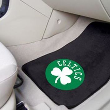 Boston Celtics 2-pc Carpet Car Mat Set