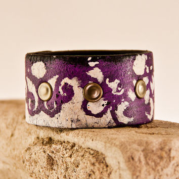 SALE Bohemian Cuff Retro Leather Jewelry - Winter - Women's Cuffs - Bohemian Style - Eco Fashion - On Sale