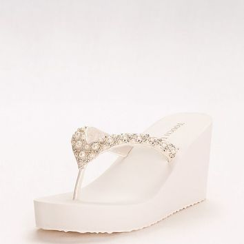 Touch Ups Shelly Wedge Sandal | David's Bridal