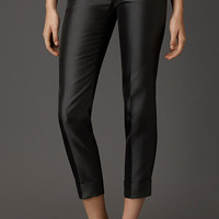 Pintuck Detail Silk Blend Trousers