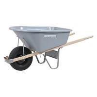 SheilaShrubs.com: True American 6 Cubic Foot Poly Wheelbarrow with Flat Free Tire TP6FFUSA by True Temper: Carts & Wheelbarrows