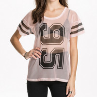 95 Striped Short Sleeve Mesh T-shirt