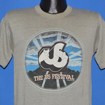80s US Rock & Roll Festival 1982 The Police Tom Petty t-shirt Small