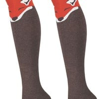 Fox Women's Over The Knee Thigh High Socks