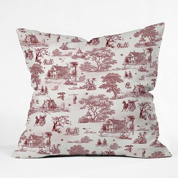 Belle13 Vintage Sunday Afternoon Throw Pillow