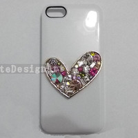 iphone 5 case, gem iphone 4s cases iphone cover skin bling bling iphone 5 case - gem love crystal iphone 4 cases