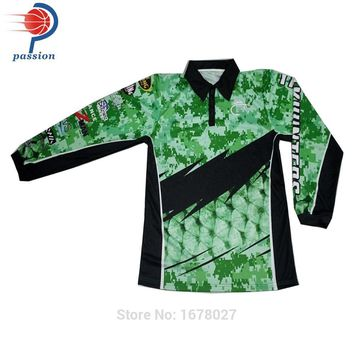 High Quality Long Sleeves Polo Shirts Sublimated Professional Fishing Shirts