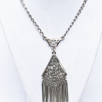 Vintage Silver Necklace with Tassels