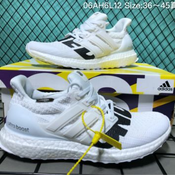 hcxx Adidas Ultra Boost 4.0 UB4 Running Shoes White