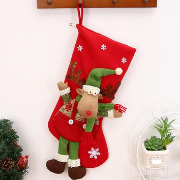 Merry christmas decoration Christmas gifts Candy Beads Christmas Santa Claus Snowman Socks Decorations cadeau noel