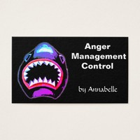 Shark - Anger Management Control Business Card