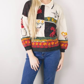 Vintage Texas Knit Sweater