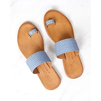 final sale - coconuts by matisse - freddie slip on sandal - dusty blue