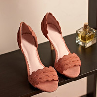 Design Stylish Korean Lace High Heel Shoes Summer Sandals [4920624452]