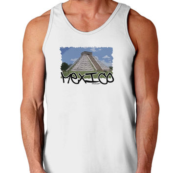 Mexico - Mayan Temple Cut-out Loose Tank Top