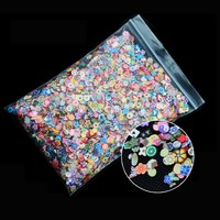 1 Pack Fimo Nail Foils Decal Feather Fruit Nail Stickers DIY 3D For Nail Accessories Beauty Nail Art Decoration
