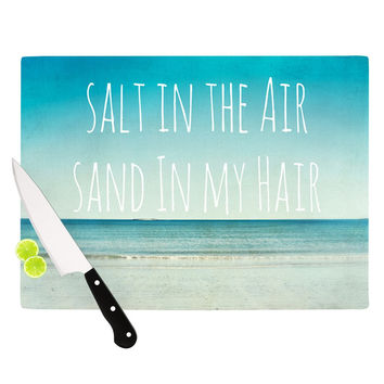 "Debbra Obertanec ""Salt in the Air"" Ocean Typography Cutting Board"