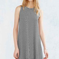 BDG Striped Swing Midi Dress- Black & White