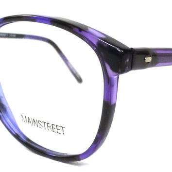 vintage 80s deadstock oversize round purple eyeglasses retro huge big frame plastic eye glasses eyewear translucent tortoise shell smart 159