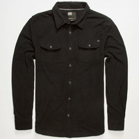 O'neill Glacier Mens Fleece Shirt Black  In Sizes